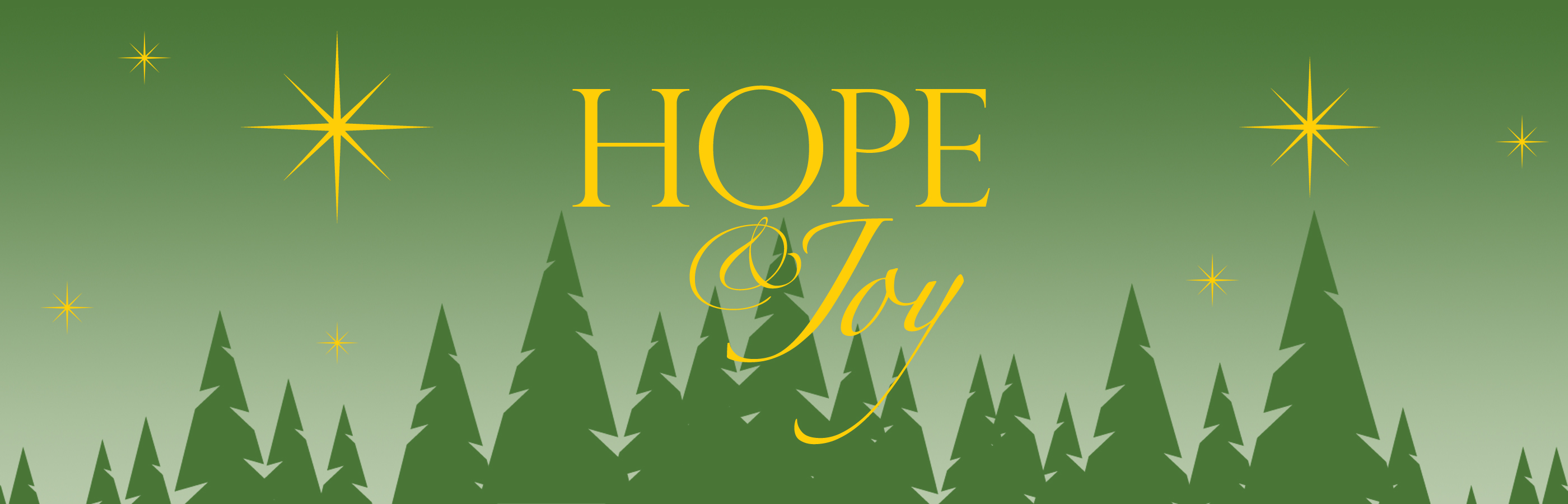 Christmas In The Forest 2021 Theme - Hope & Joy